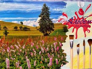 Альбом для рисования 40 листов Горы акварель