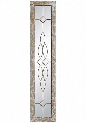 Зеркало настенное DA8477 в деревянной раме 25*120cm