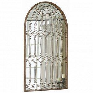 Зеркало настенное DE5302 в металлической оправе 91*148cm
