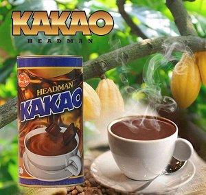 Растворимое бодрящее какао «HEADMAN» с шоколадным вкусом. 500грамм. в/у