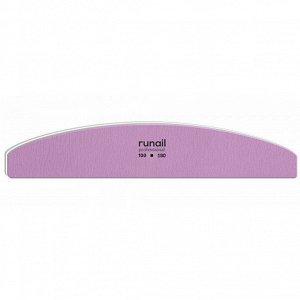 Профессиональная пилка для искусственных ногтей (сиреневая, полукруглая, 100/180), RuNail