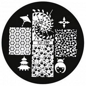 El Corazon, Kaleidoscope Диск для стемпинга №kst-190 (d=5,6см)