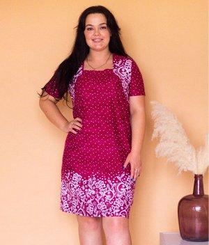 Платье ДПТ14 (горох на красном)