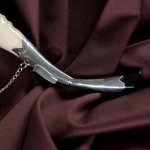 Сувенирный рог для вина, средний, с пиалой