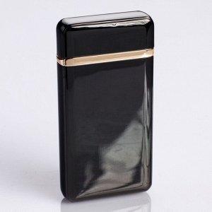 Зажигалка электронная, дуговая, USB, чёрная, 3.5х10х10 см