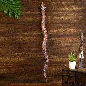 """Панно """"Змея"""" дерево 80х6х1 см"""