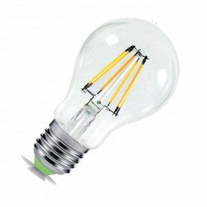 Лампа светодиодная LED-A60-deco 9Вт 230В Е27 3000К 810Лм прозрачная IN HOME
