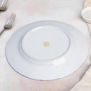 Тарелка мелкая «Рококо. Гуси», d=25 см