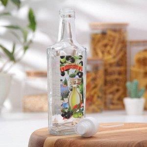 Бутылочка для оливкового масла 250 мл, с кнопочным распылителем