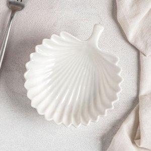 Блюдо «Листочек», 16,5?15?4,5 см, цвет белый