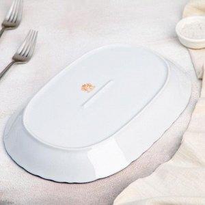 Блюдо овальное «Рококо. Гуси», 29?20 см