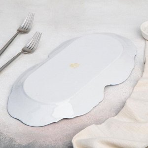 Блюдо прямоугольное «Рококо. Гуси», 36?18 см