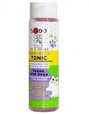 Тоник Sendo с кислотами регенерирующий с эффектом пилинга 250 мл