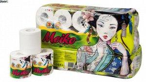 """Бумага туалетная""""ATORI MEIKO"""", трехслойная. 10 рулонов,"""