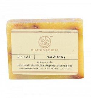 Khadi ROSE HONEY PETAL SOAP/Кхади мыло с лепестками розы