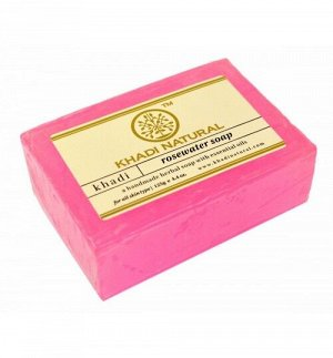 "Khadi ROSE WATER SOAP/Кхади мыло ""Розовая вода"" 125гр."