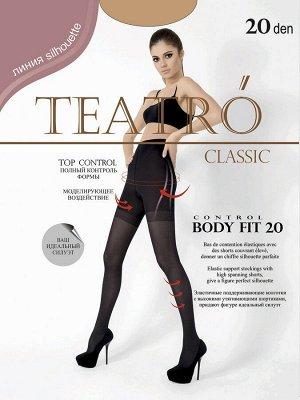 Teatro / Колготки, BODY FIT 20 den, высокие утягивающие шортики, распределённое давление по ноге