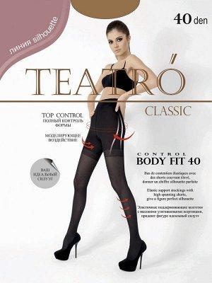 Teatro / Колготки, BODY FIT 40 den, высокие утягивающие шортики, распределённое давление по ноге