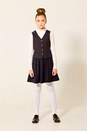 Школьный синий жилет для девочки