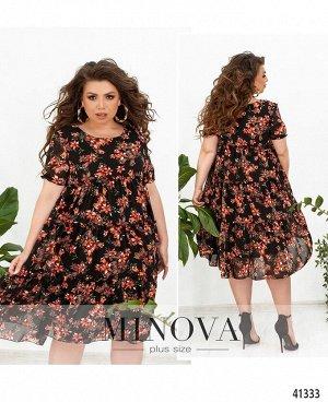 Платье №8620-4-крупный-цветок