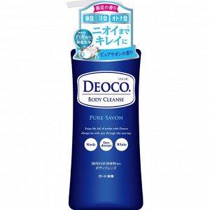 ROHTO Deoco Medicated Body Clean Pure Savon - гель для душа против пота и возрастного запаха с ароматом японского мыла