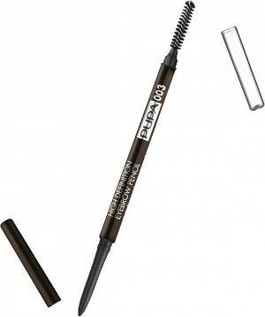 .Пупа карандаш д/ бровей High Definiton   new  003 темно-кор