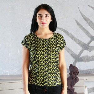 Блуза A38 Желтая полянка