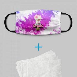 Детская маска (+5 фильтров) «Brawl Stars Leon Unicorn»