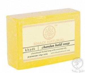 "Khadi CHANDAN HALDI SOAP/Кхади мыло ""Сандал и Куркума"""