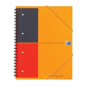 Бизнес-тетрадь OXFORD MEETINGBOOK А4+ 80л лин.папка 3кл,сп,пл.обл...
