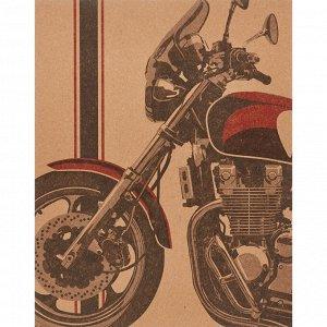 Тетрадь общая №1 School Harley 48л., А5, скрепка,обл. крафт, цв.п...