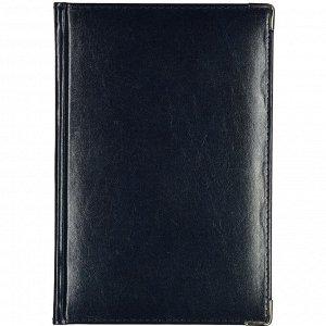 Ежедневник полудатированный кожа,синий,А5,145х216мм,208л,Br.V.IMP...