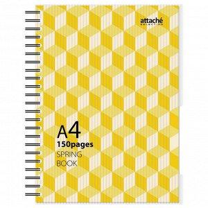 Бизнес-тетрадь А4,150л,кл,плас.спир.Attache Selection SPRING BOOK...