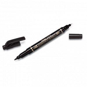 Маркер для CD Pentel N75W-A двухсторонний, черный,0,3-1,2мм