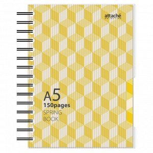 Бизнес-тетрадь А5,150л,кл,плас.спир.Attache Selection SPRING BOOK...