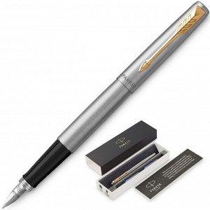 Ручка перьевая JOTTER STAINLESS STEEL GT, синий картр.1,0мм203094...