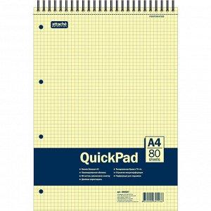 Блокнот 80л,кл,А4,Yellow Pad,спираль,тон.блок 70г/м