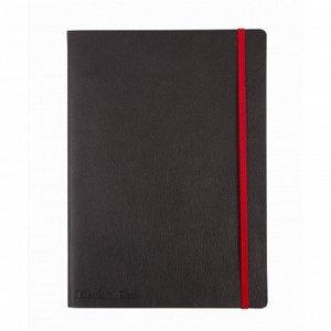 Блокнот OXFORD BLACK'n'RED А5+ 72л фикс.резинка, карман...