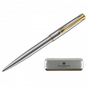 Ручка шариковая DIPLOMAT Traveller stainless steel gold синий D10...