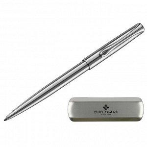 Ручка шариковая DIPLOMAT Traveller stainless steel синий D10061083