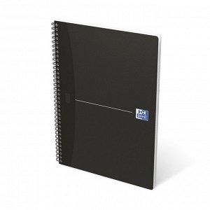 Блокнот OXFORD SMART BLACK А4 90л клетка обложка ламин.карт.10010...