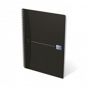 Блокнот OXFORD SMART BLACK А4 90л линейка обложка ламин.карт. 100...