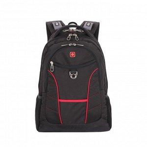 Рюкзак дорожный WENGER RAD цв. черн/красный, полиэстер 900D 1178215
