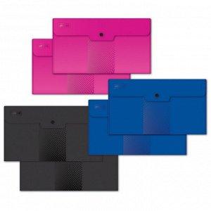 Папка-конверт на кнопке Travel, 180мкм, Attache , Digital ассорти...