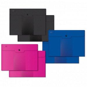 Папка-конверт на кнопке А4, 180мкм, Attache Digital ассорти, 6 шт...