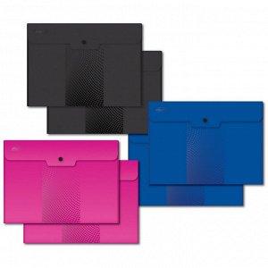 Папка-конверт на кнопке А5, 180мкм, Attache , Digital ассорти, 6 ...