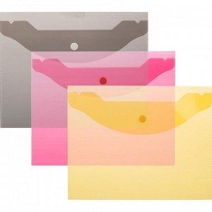 Папка-конверт на кнопке А5,190x240мм,Attache, 180мкм, 10шт.уп , а...