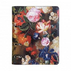 Тетрадь на кольцах Flowers , двойной к/з, А5/120л. N813