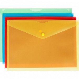 Папка-конверт на кнопке Attache Fantasy А4 в уп.8шт в асс.