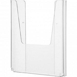Карман настенный Attache А5 вертикальный 210x148x32мм акрил